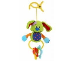 Plyšová hračka s klipsou BabyMix Psík zelený