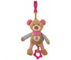Plyšová hračka s vibráciou BabyMix Medvedík ružový