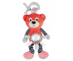 Plyšová vibrujúca hračka s hrkálkou Canpol Medvedík