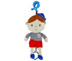 Plyšová závesná hračka so zvukom BabyMix Marine Boy