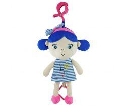 Plyšová závesná hračka so zvukom BabyMix Marine Girl Blue