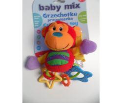 Plyšová hrkálka BabyMix Opička