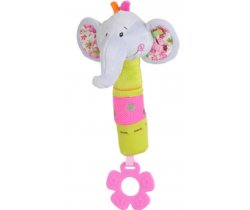 Plyšové pískatko s hryzátkom BabyOno Sloník