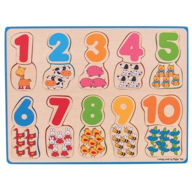Počítacie puzzle Bigjigs Toys 2