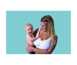 Podprsenka na dojčenie bezšvová Push Up s gélovou kosticou Carriwell Biela