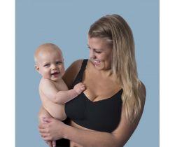 Podprsenka na dojčenie bezšvová Push Up s gélovou kosticou Carriwell Čierna