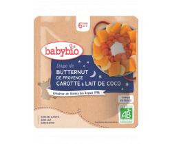 Polievka z maslové tekvica s mrkvou a kokosovým mliekom 190g Babybio