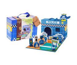 Policajná stanica v kufríku 13ks 18m + Jouéco