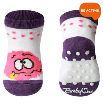 Ponožky 587/01 bavlnené protišmykové 0+ BabyOno