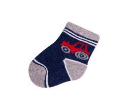 Ponožky froté Yo Dark Blue Car