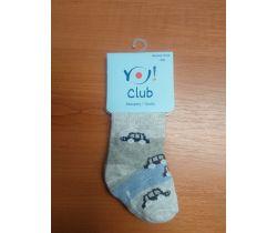 Ponožky froté Yo Grey/Blue Car