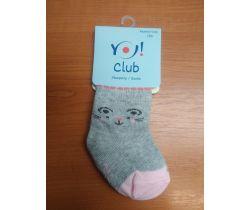 Ponožky froté Yo Grey Cat