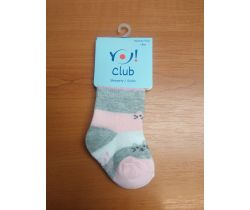 Ponožky froté Yo Grey/Pink Cats