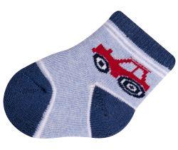 Ponožky froté Yo Light Blue Car