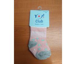 Ponožky froté Yo Pink Flower