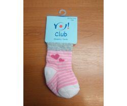 Ponožky froté Yo Pink Hearts