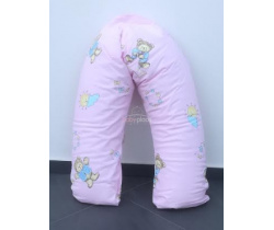 Poťah na dojčiaci vankúš 170 cm Pinokio Deluxe Pink Bear