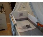 Obliečky bavlnený satén sivobiela Baby´s Zone Mačička