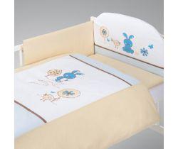 Obliečky do postieľky Klupś Little Bunny modrá K024