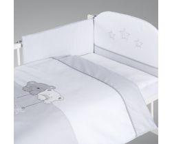 Obliečky do postieľky Klupś Star Dream sivá H186