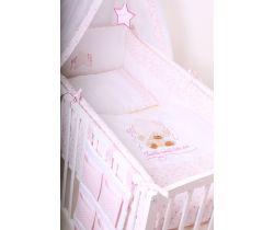 Obliečky do postieľky LittleUp Lux Twinkle Star Pink