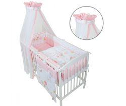 Obliečky do postieľky LittleUp Pink Forest