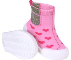 Topánočky s gumovou podrážkou Yo Girl Heart ružová