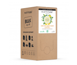 Prírodné mydlo na ruky Attitude Super leaves s detoxikačným účinkom - citrusové listy - náhradné kanister 2 l