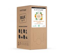 Prírodné mydlo na ruky Attitude Super leaves s detoxikačným účinkom - pomarančové listy - náhradné kanister 2 l