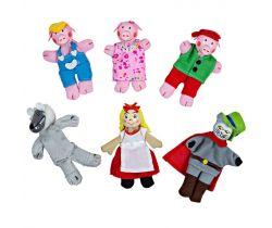 Prsty maňušky Bigjigs Toys Rozprávkové postavičky