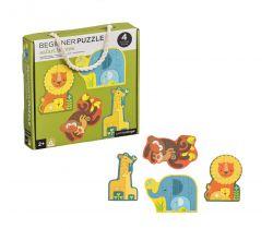 Prvé puzzle Petitcollage Mláďatá safari