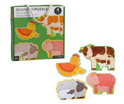 Prvé puzzle Petitcollage Zvieratká z farmy