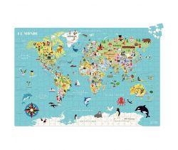 Puzzle 500 dielikov Vilaca Mapa sveta