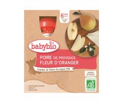 Pyré hruška a pomarančový kvet 4x90g Babybio