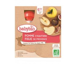 Pyré jablko a figa 4x90g Babybio