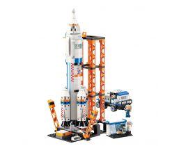 Štart vesmírnej rakety Qman MineCity