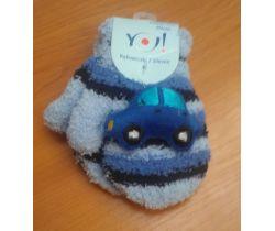 Rukavičky sa obrázkom Yo Dark Blue Car