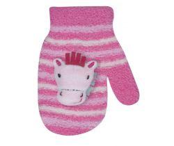 Rukavičky s obrázkom Yo Pink Horse