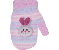 Rukavičky s obrázkom Yo Pink Rabbit