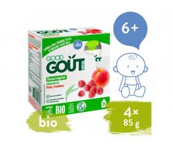 Ryžový dezert s broskýňou a malinou (4x85 g) Good Gout BIO