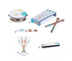 Sada 5 hudobných nástrojov pre deti EcoToys