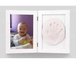 Sada pro otisk a fotku Hand Print bílý rám
