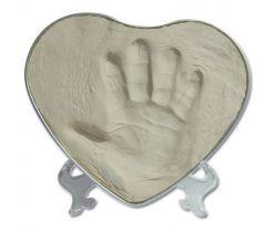 Sada pre odtlačok Happy Hands 2D Heart Silver / White