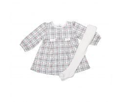 Šatôčky a pančucháče Kitikate Active Dress Plaid Print