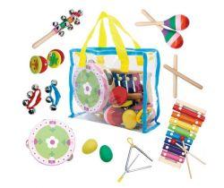 Set 14 ks hudobných nástrojov s taštičkou EcoToys