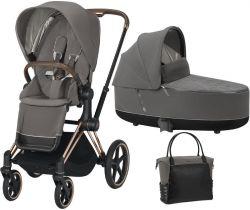 Kočík Set 2v1 Cybex Priam 2020 Podvozok Rosegold + Seat Pack + Hlboká korbička Lux + Taška
