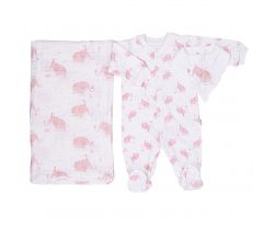 Set 3ks Kitikate Elephant Pink