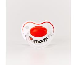 Cumlík anatomický silikónový Bibi Happiness I Love Mama