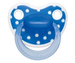 Cumlík anatomický silikónový Bibi Happiness Lovely Dots blue