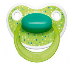 Cumlík anatomický silikónový Bibi Happiness Lovely Dots green